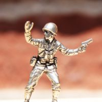 White Bronze Cast Army Men 1
