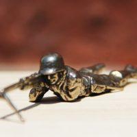 White Bronze Cast Army Men 2