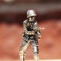 White Bronze Cast Army Men 4