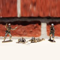 White Bronze Cast Army Men Featured