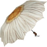 White Daisy Folding Umbrella