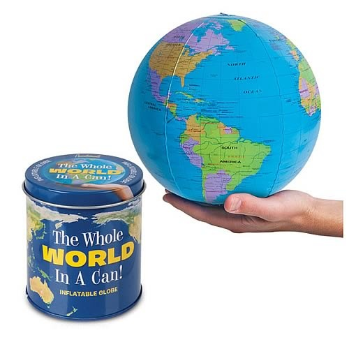 Whole World in a Can Inflatable Globe