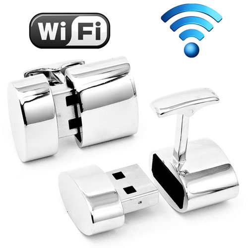 WiFi Hotspot and 2GB USB Combination Cufflinks