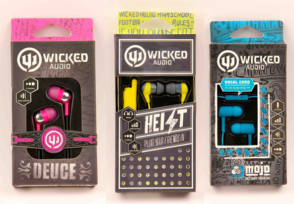 Wicked Audio Releases Four New Headphone Designs