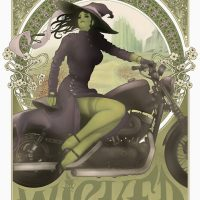 Wicked Witch of the West Art Nouveau Poster