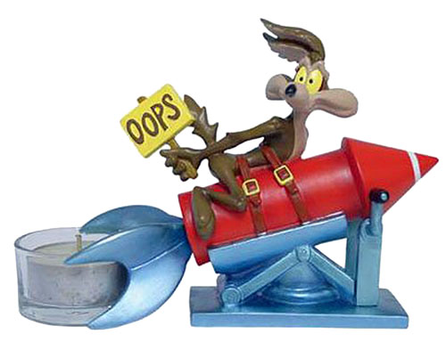 Wile E Coyote Oops Looney Tunes Tealight Figurine
