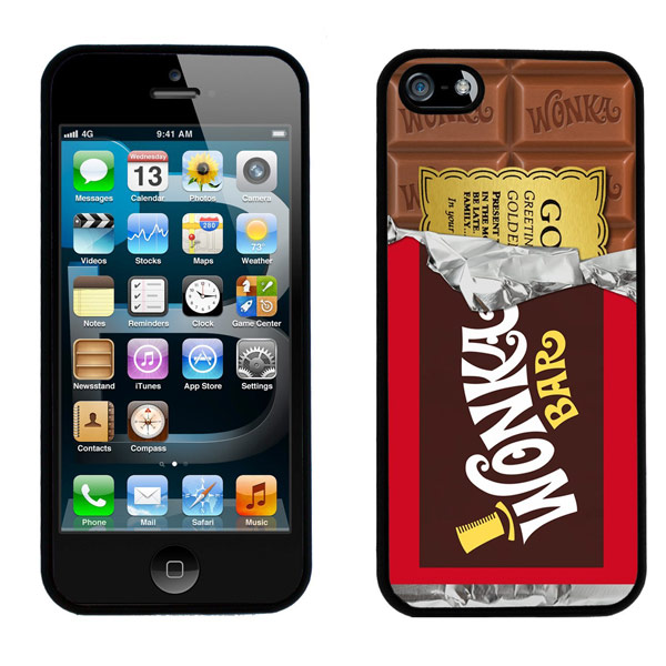 Willy Wonka Golden Ticket Chocolate Bar iPhone 5 Case