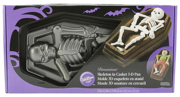 Skeleton In Casket 3d Cake Pan