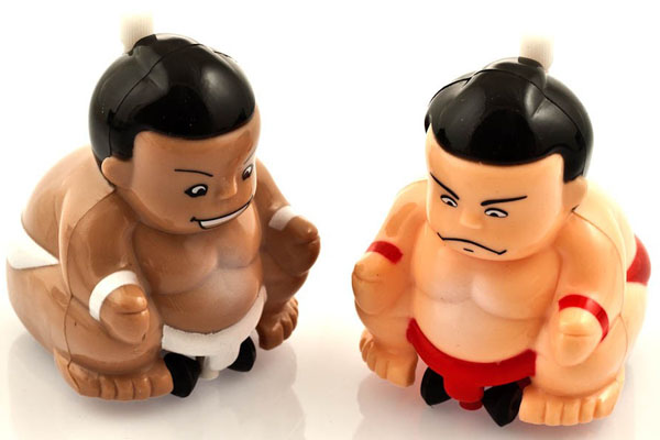 Wind-Up Non-Fall Combat Sumo Wrestlers