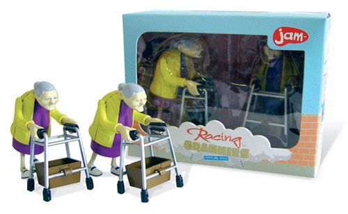 Wind-Up Racing Granny Toys