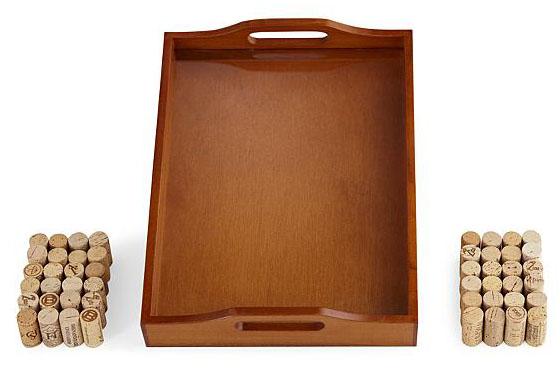 Wine Cork Wood Tray