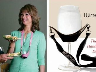 Wine Yoke Party Time Hand Free Wine Glass Holder Necklace