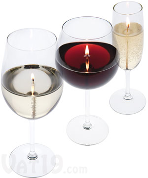 Wine and Champagne Glass Candles
