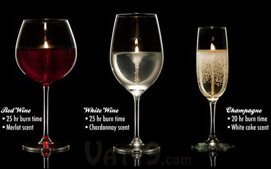 Wine and Champagne Glass Scented Candles