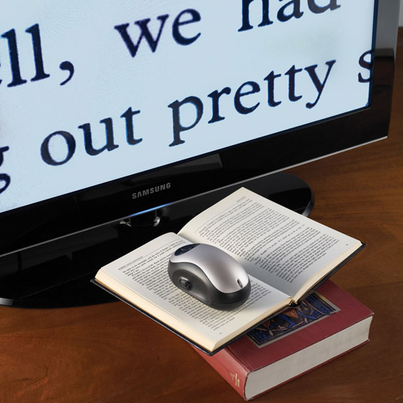 Wireless Page to TV Magnifier