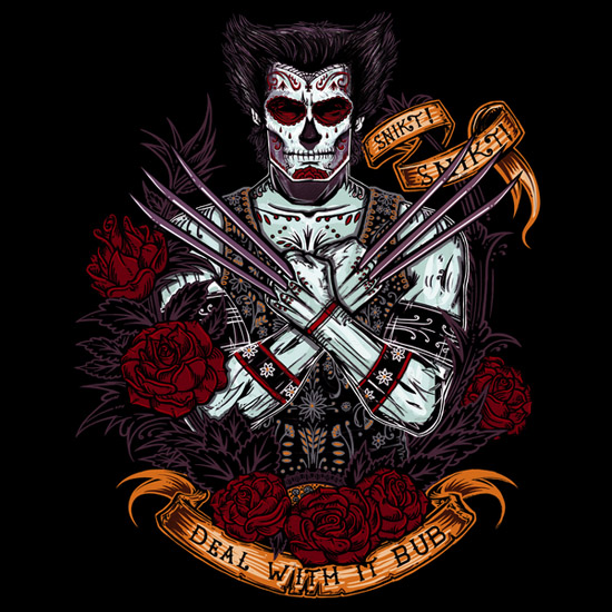 Wolverine Day of the Dead T-Shirt