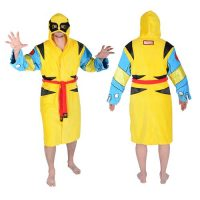 Wolverine Hooded Cotton Bathrobe
