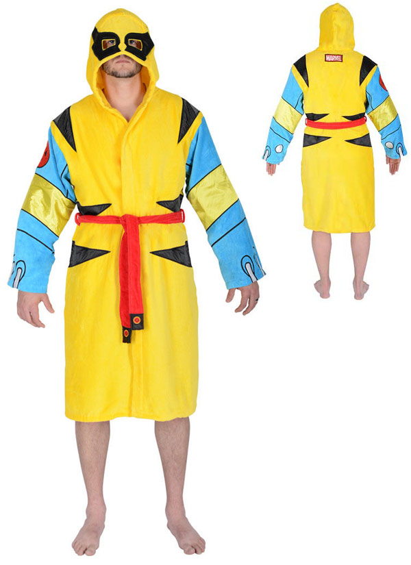 Wolverine Hooded Terrycloth Bathrobe