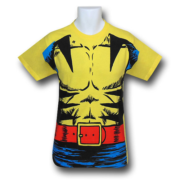 sc 1 st  GeekAlerts & Wolverine Retro Muscle Costume T-Shirt