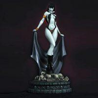 Women of Dynamite Vampirella Black and White Edition Statue