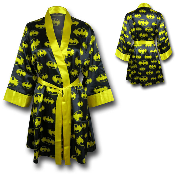 Womens Batman Silk Printed Robe