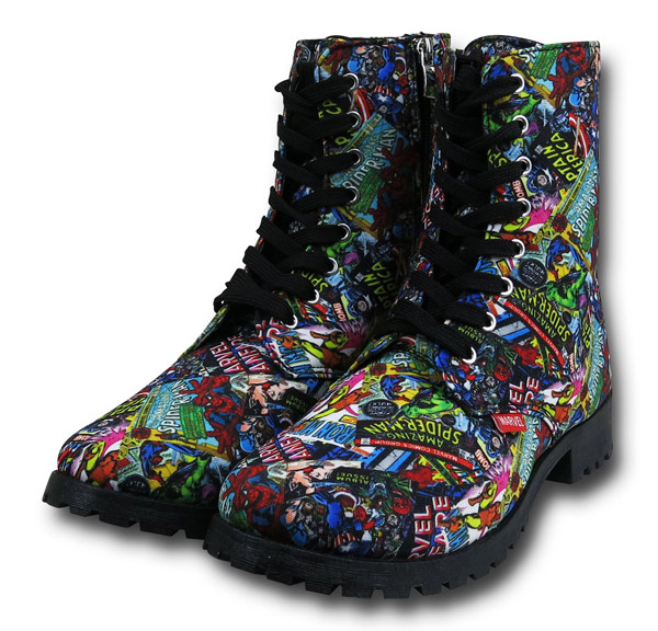 Marvel Comic Print Women&39s Boots