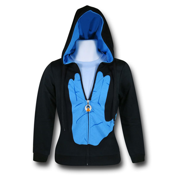 Womens Star Trek Live Long And Prosper Hoodie