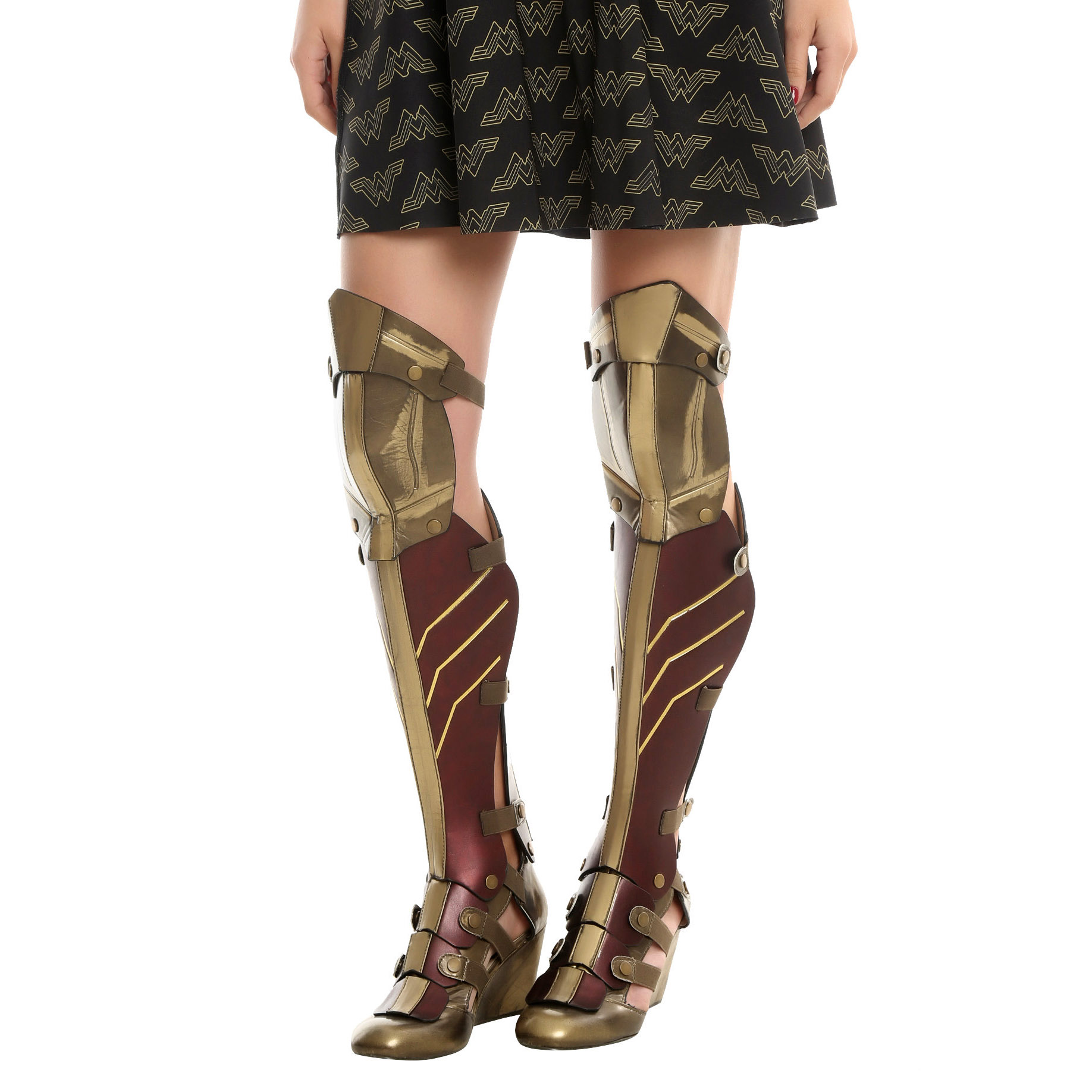 Wonder Woman 3 Piece Cosplay Wedge Boots