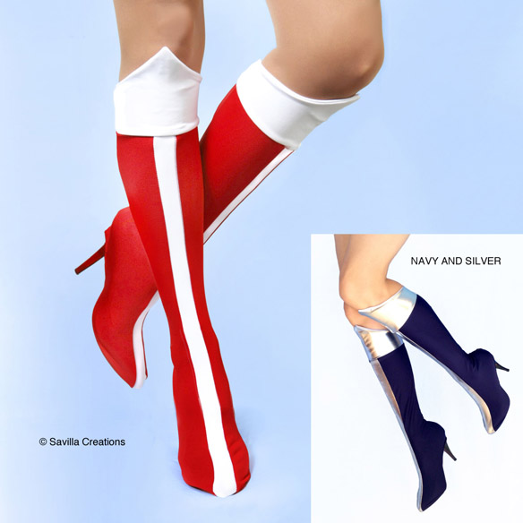 Wonder Woman Boots Bootlet Shoe Covers
