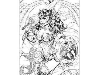 Wonder Woman Coloring Book