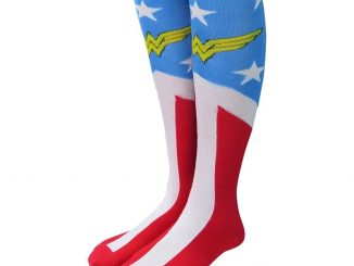 Wonder Woman Faux Boot Knee High Socks
