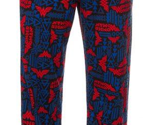 Wonder Woman Geometric All Over Print Lounge Pants