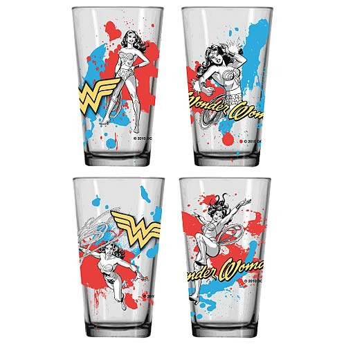 Wonder Woman Glass Tumbler 4-Pack