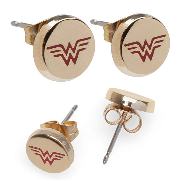 Wonder Woman Gold Stud Earrings