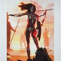 Wonder Woman Justice League Trinity Premium Art Print