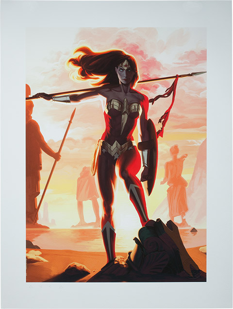 Wonder Woman Justice League Trinity Premium Art Print