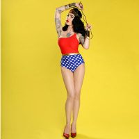 Wonder Woman One-Shoulder One Piece Swimsuit