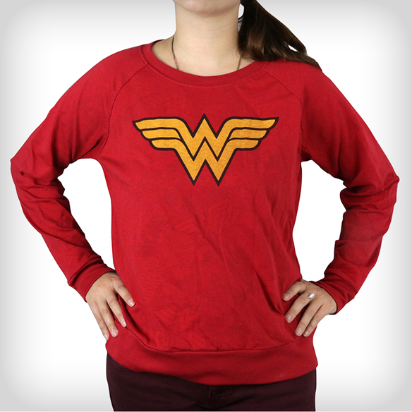 Wonder Woman Reversible Long Sleeve Junior Fitted T-Shirt