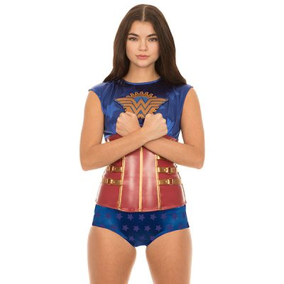 Wonder Woman Steampunk Corset Top