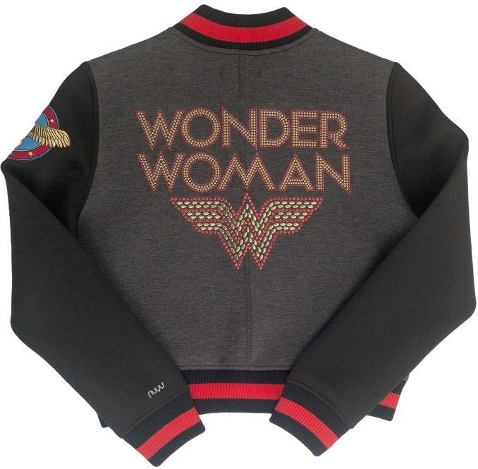Wonder Woman Studded Varsity Jacket