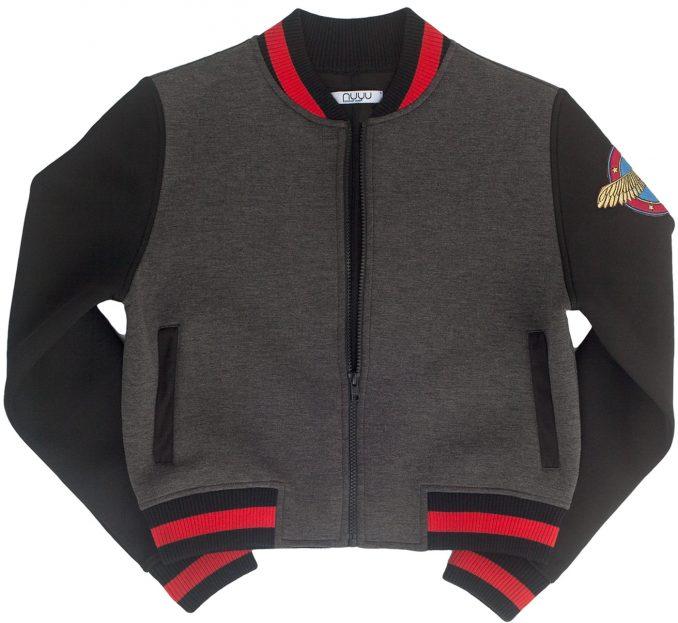 Wonder Woman Studded Varsity Jacket Front
