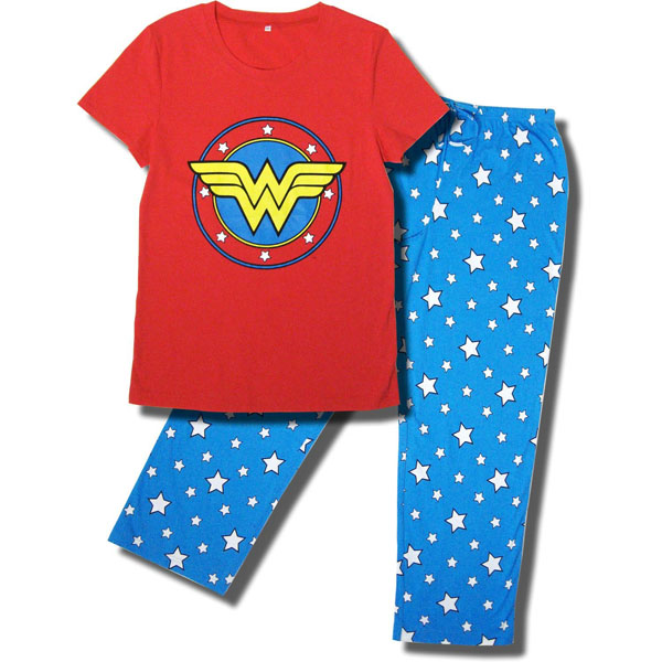 Wonder Woman Superhero Pajama Set for Women