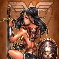 Wonder Woman Tattooed Amazon Art Print
