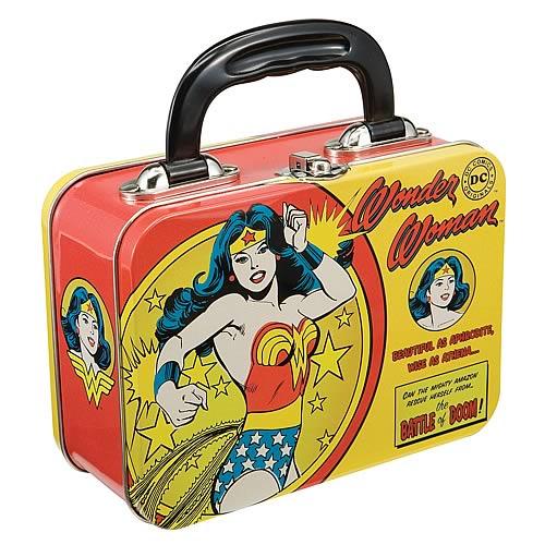Wonder Woman Vintage Comic Small Tin Tote
