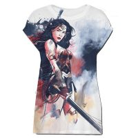 Wonder Woman Watercolor Ladies T-Shirt