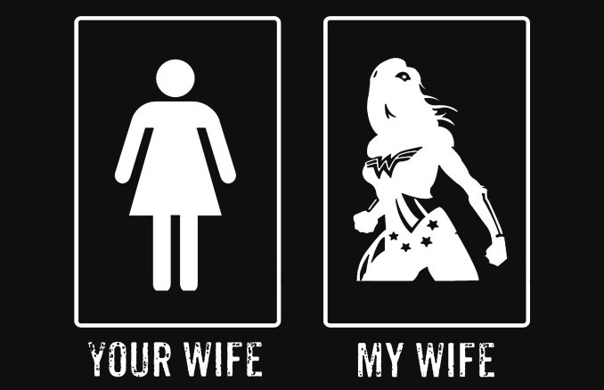 88b9b3b7737e3 Wonder Woman Your Wife My Wife Superhero T-Shirt