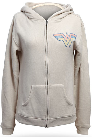 Wonder Woman Zipper Retro Hoodie