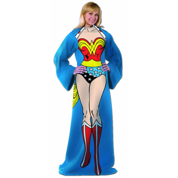 Wonder Woman Throw Blanket With Sleeves