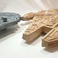 Wood Star Wars Millennium Falcon