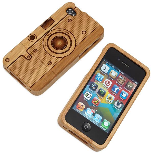 Wood iPhone Camera Case